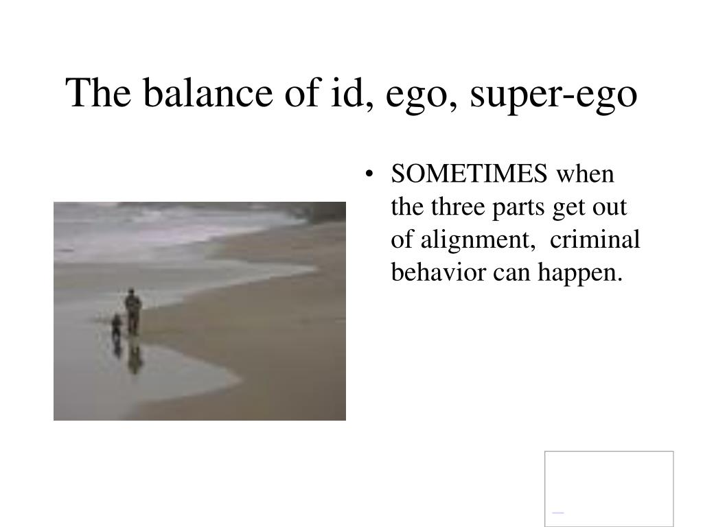 The balance of id, ego, super-ego