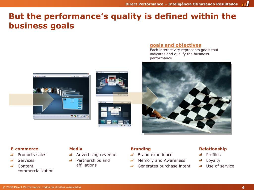 But the performance's quality is defined within the business goals