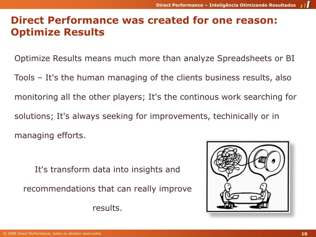 Direct Performance was created for one reason: Optimize Results