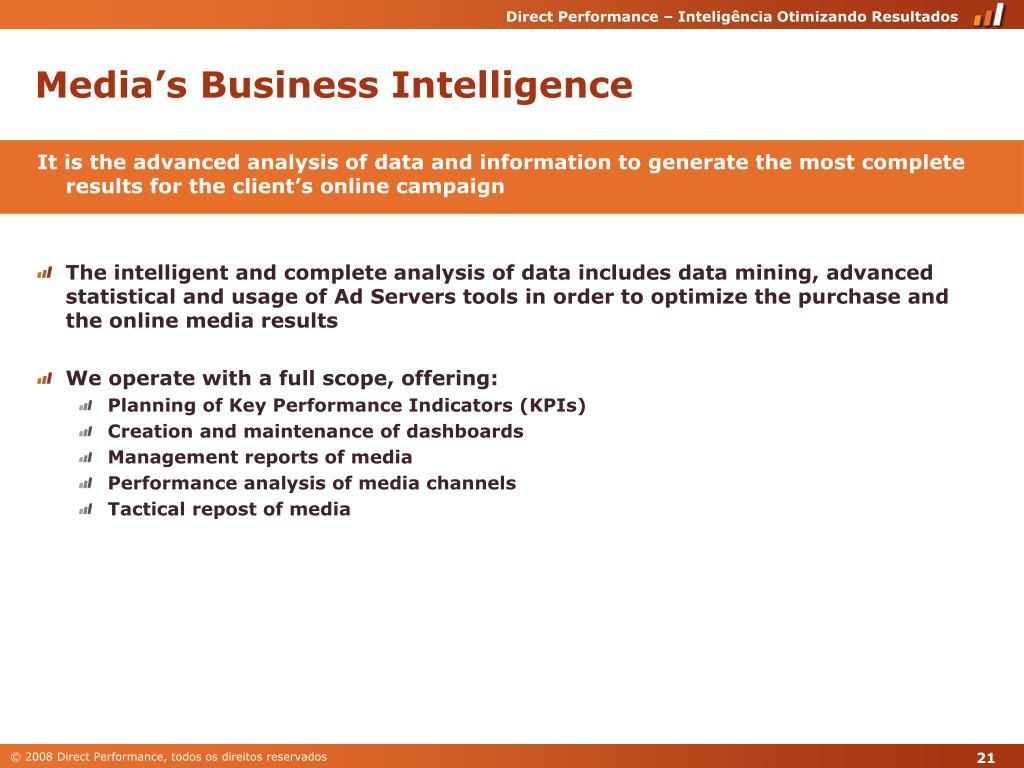 Media's Business Intelligence