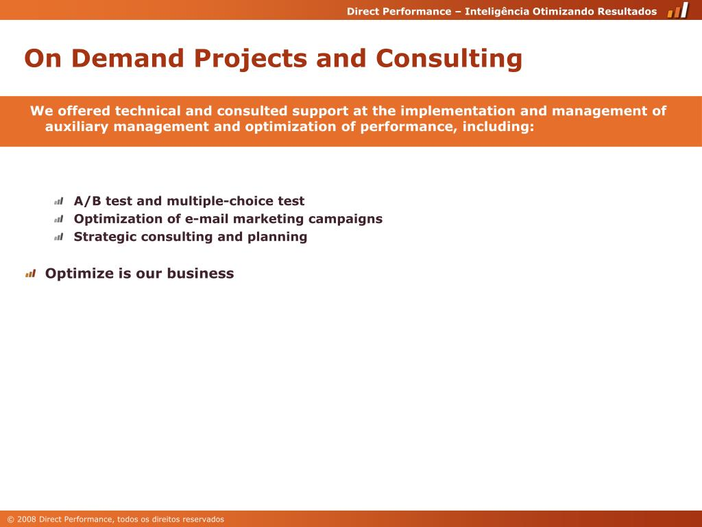 On Demand Projects and Consulting