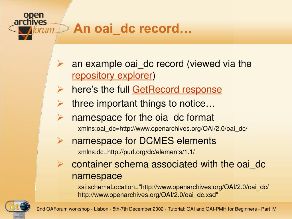 An oai_dc record…