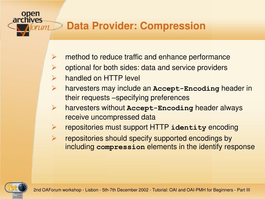 Data Provider: Compression