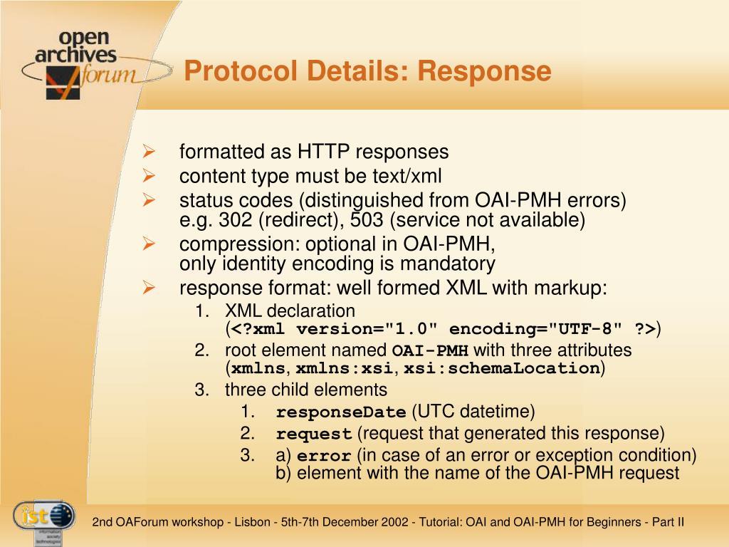 Protocol Details: Response
