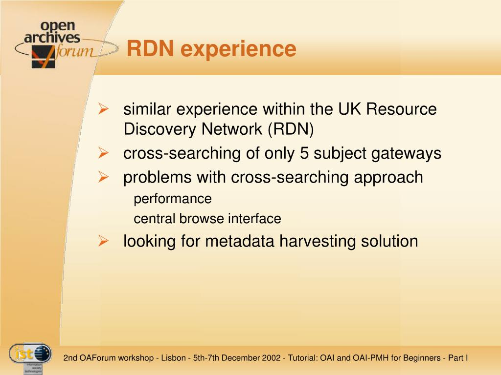 RDN experience
