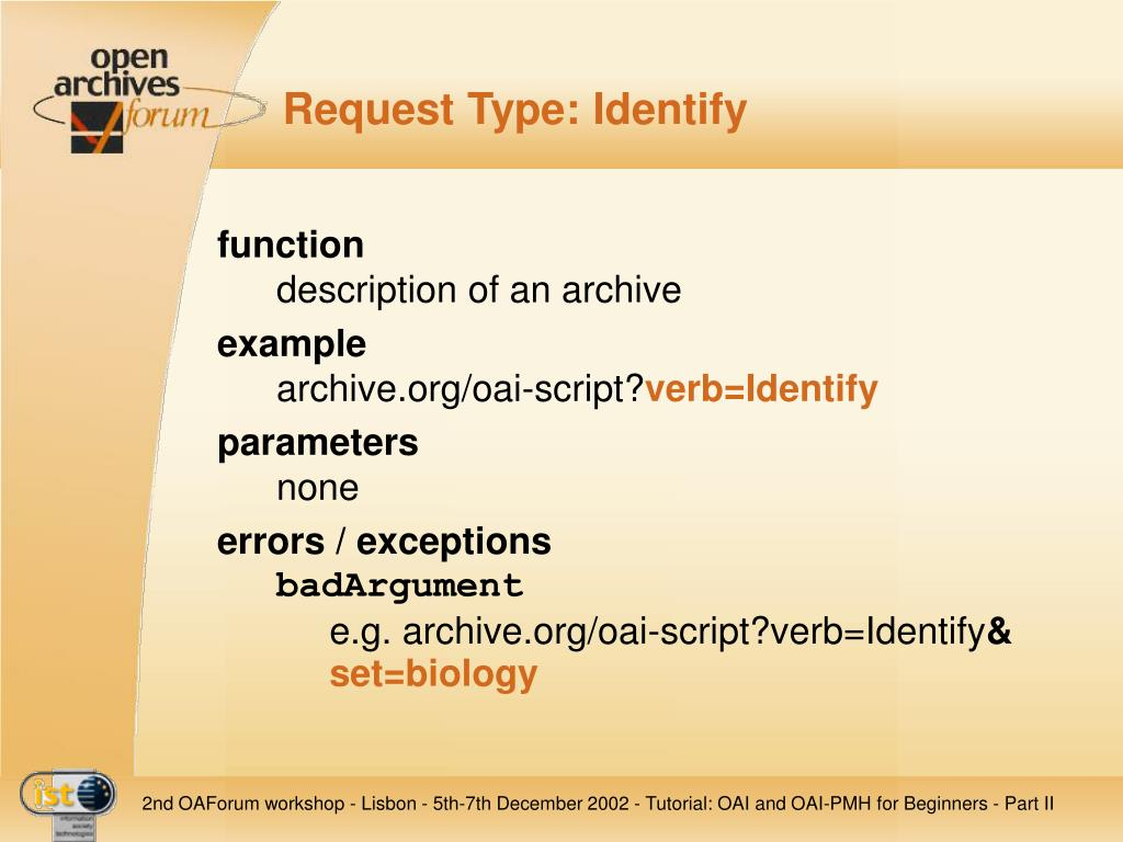 Request Type: Identify