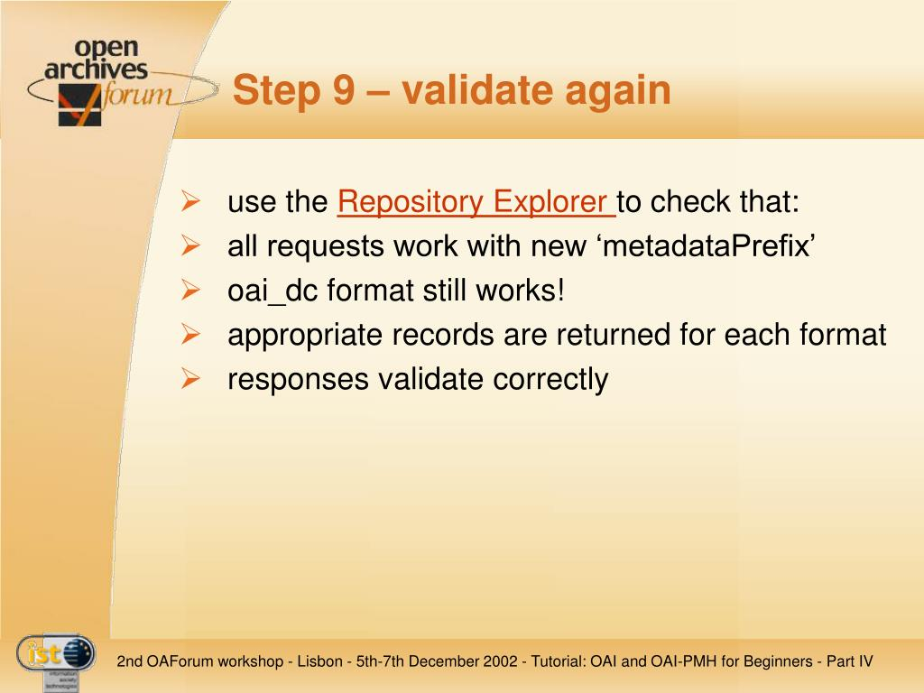 Step 9 – validate again