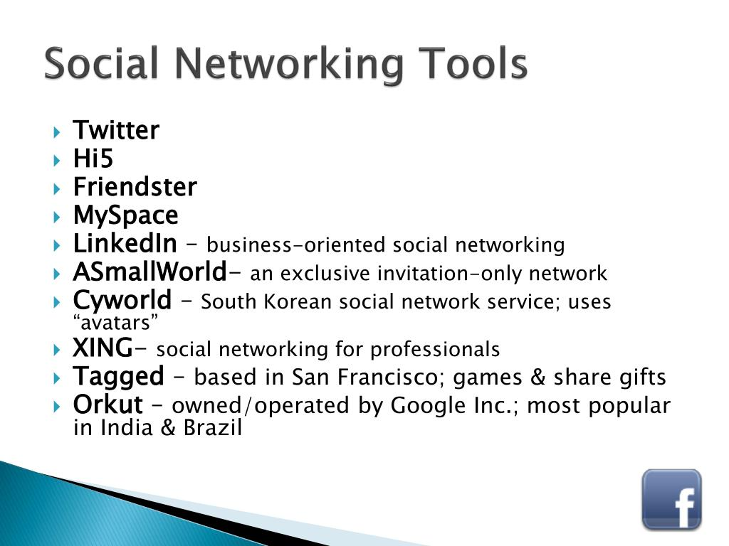 Social Networking Tools