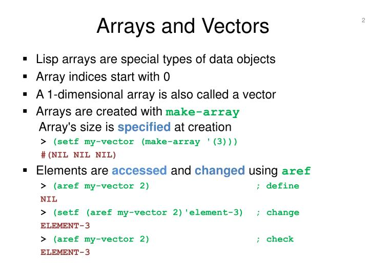 Arrays and vectors l.jpg