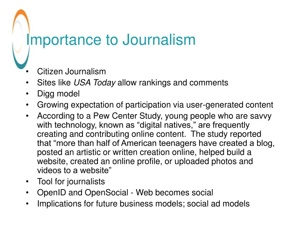 Importance to Journalism