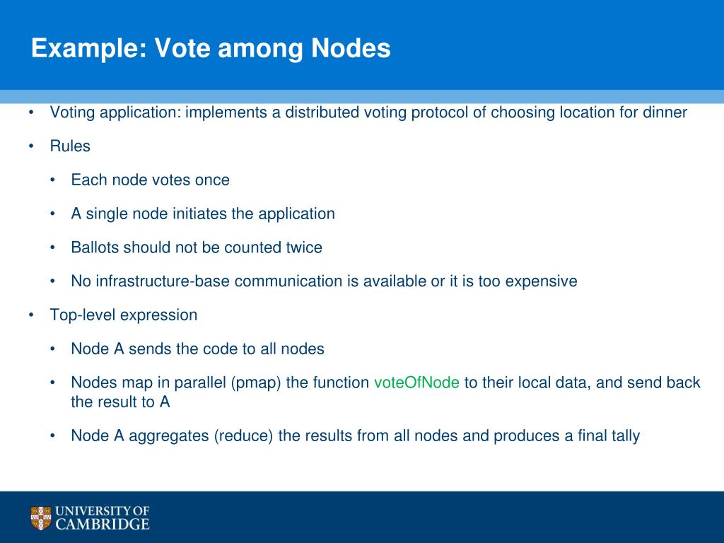 Example: Vote among Nodes