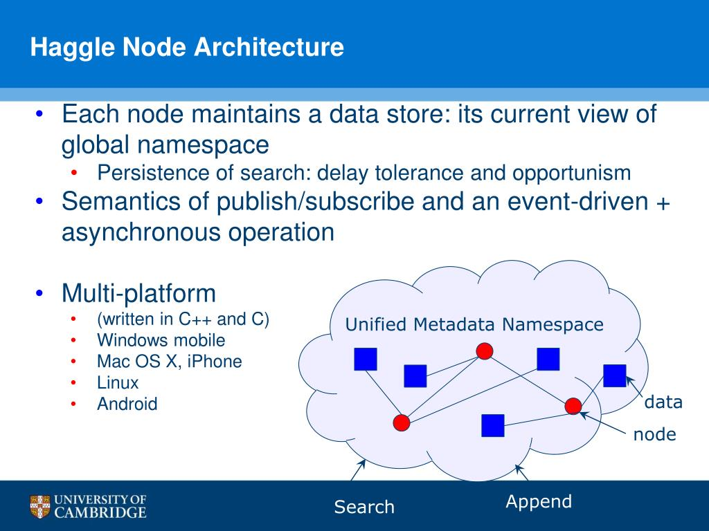 Haggle Node Architecture