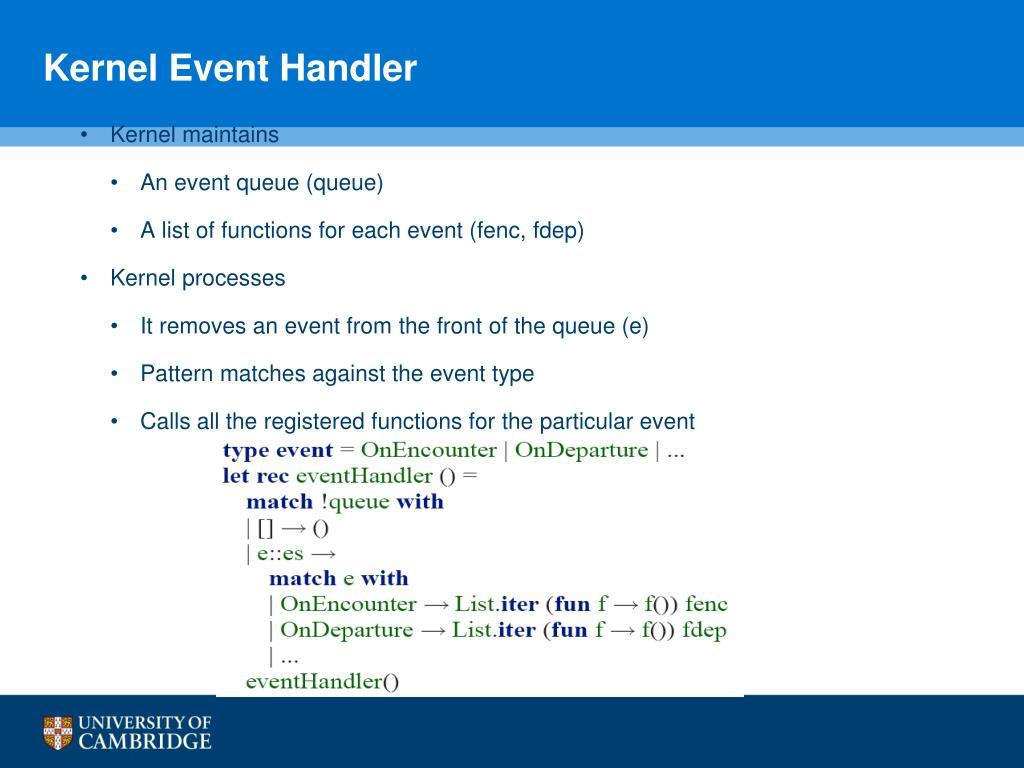 Kernel Event Handler