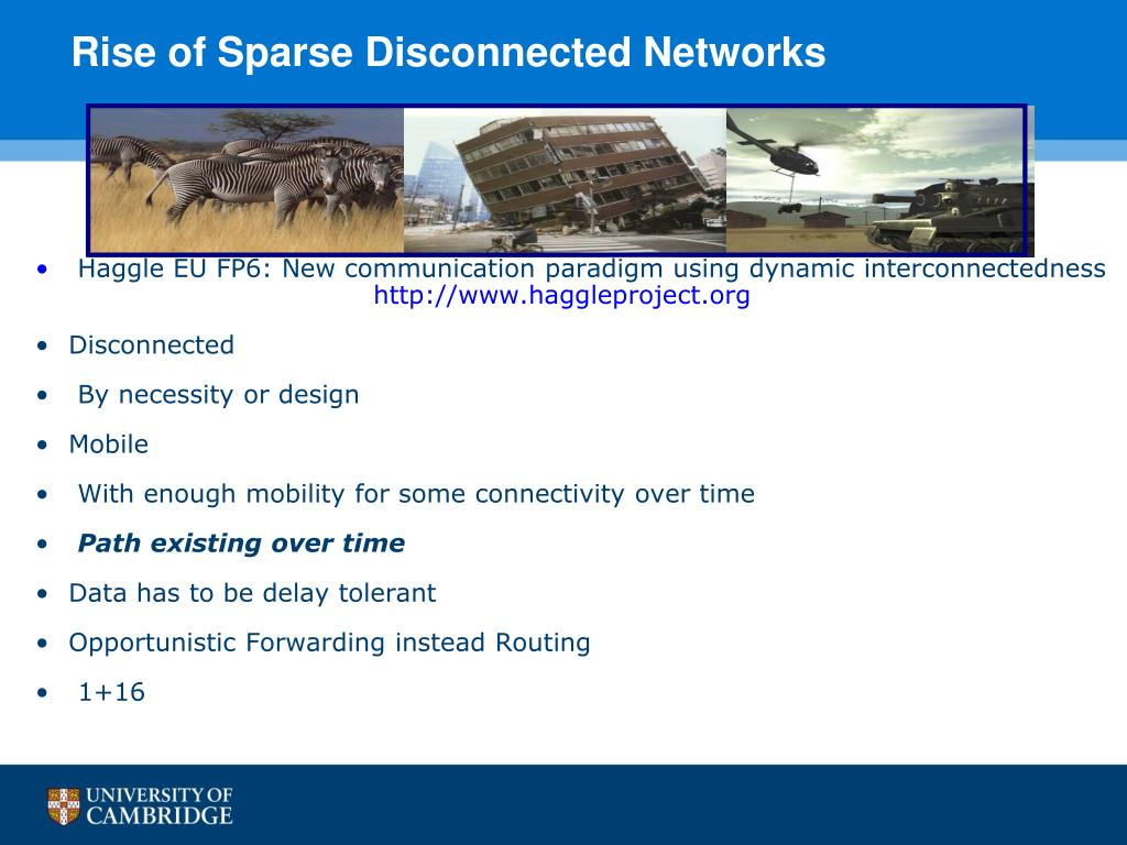 Rise of Sparse Disconnected Networks