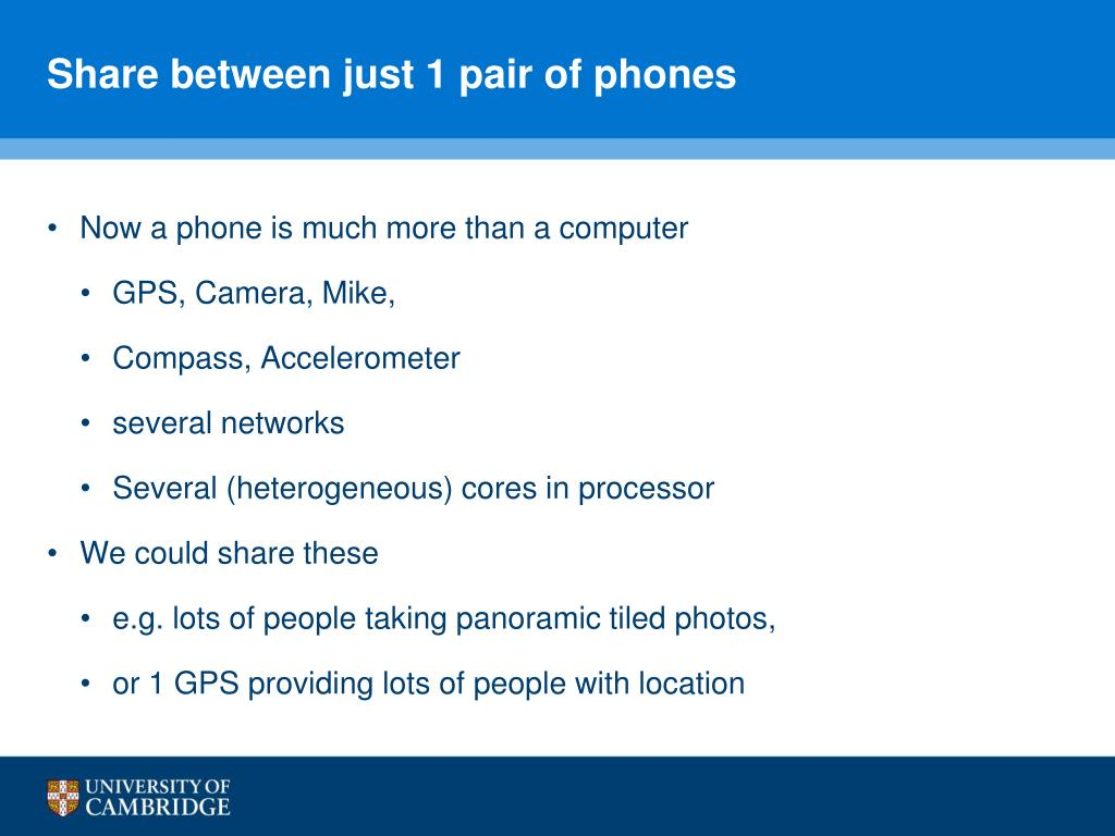 Share between just 1 pair of phones