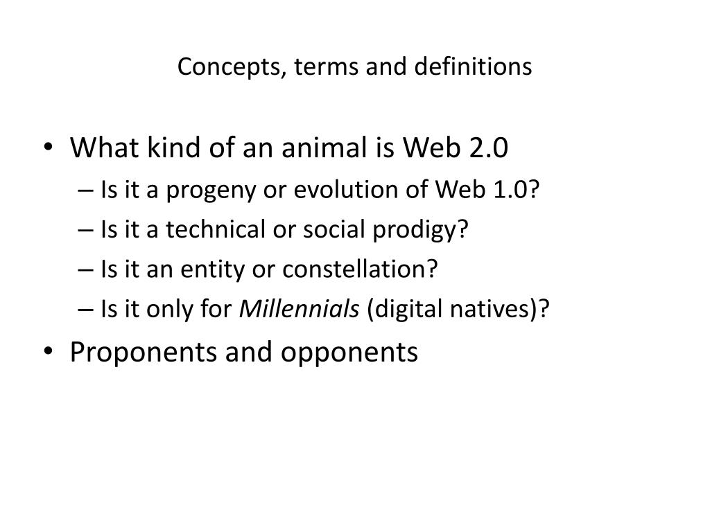 Concepts, terms and definitions
