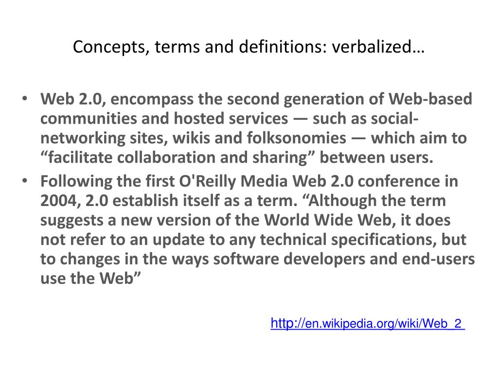 Concepts, terms and definitions: verbalized…