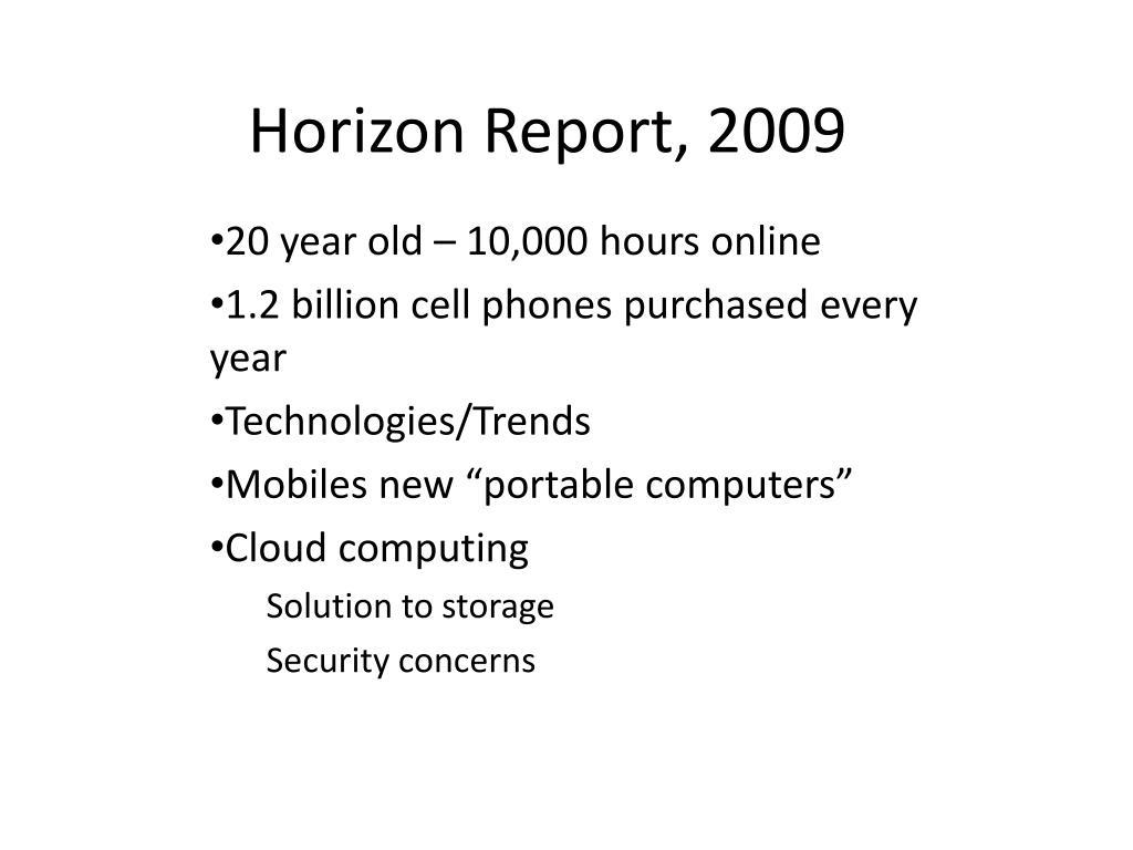 Horizon Report, 2009
