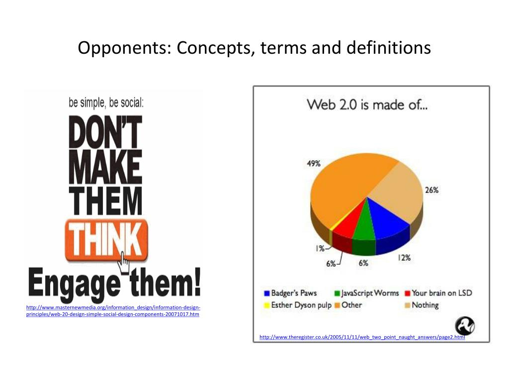 Opponents: Concepts, terms and definitions