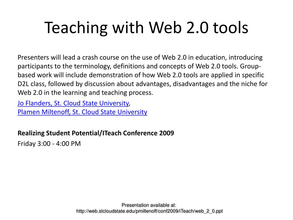 Teaching with Web 2.0 tools