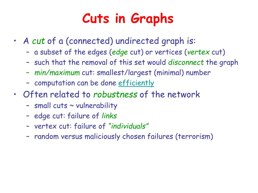 Cuts in Graphs