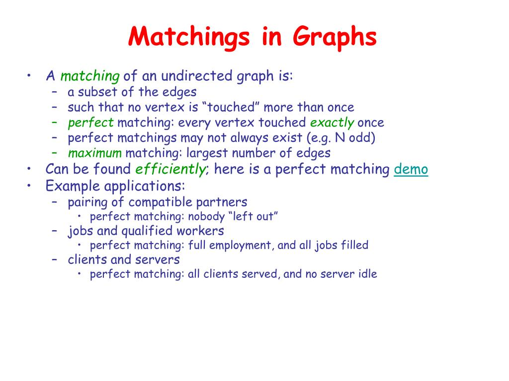 Matchings in Graphs