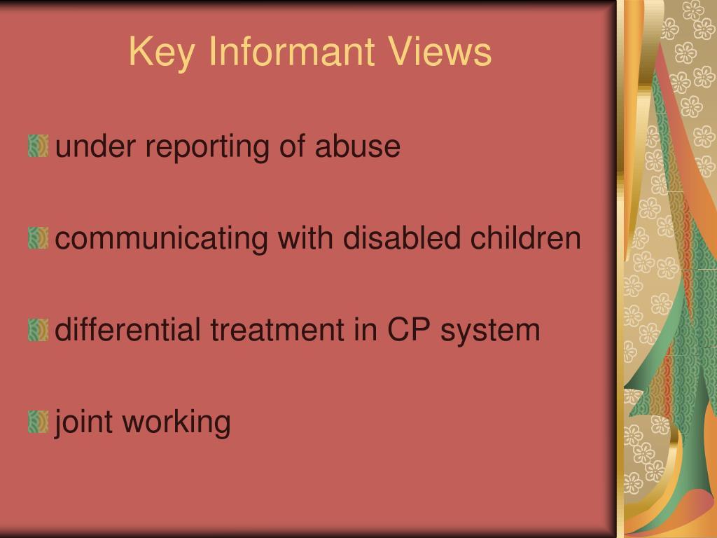 Key Informant Views