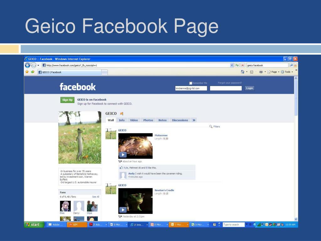 Geico Facebook Page