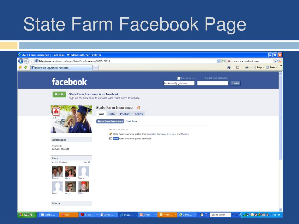 State Farm Facebook Page