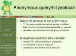 anonymous query hit protocol
