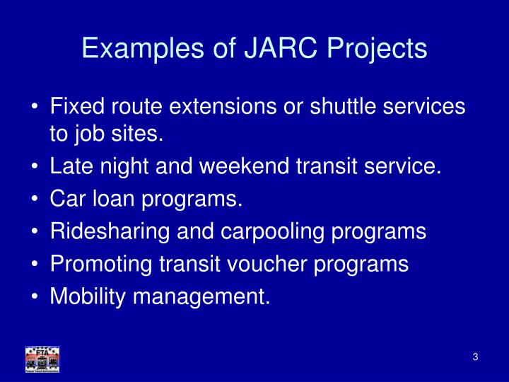 Examples of jarc projects