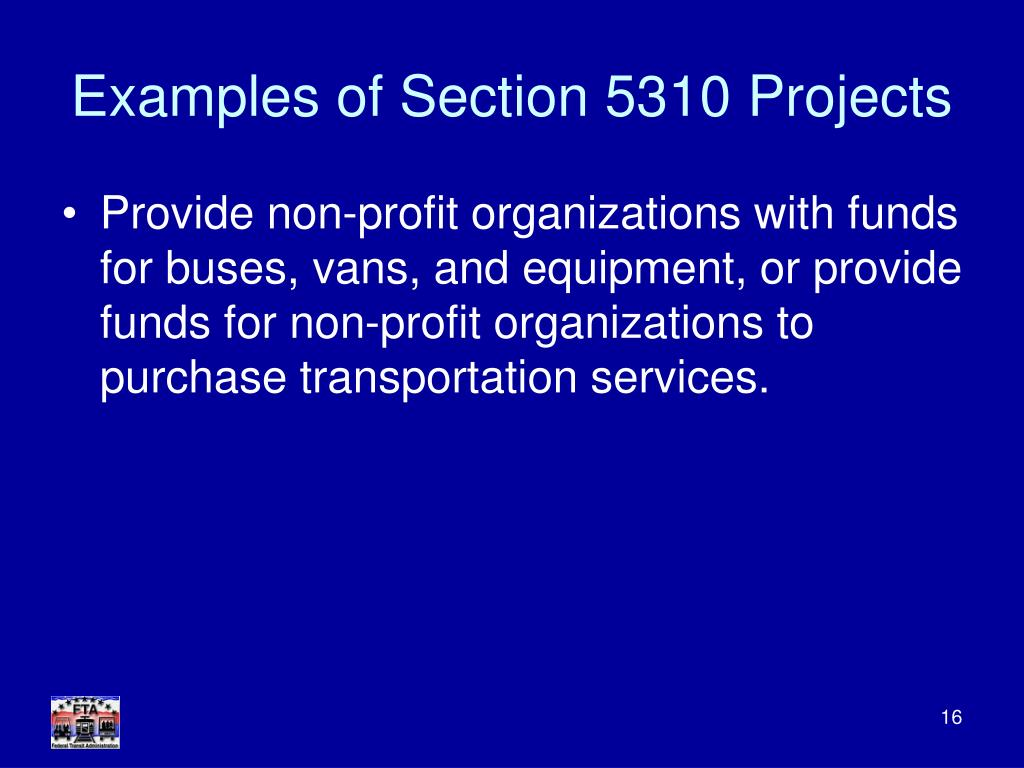 Examples of Section 5310 Projects