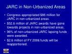 jarc in non urbanized areas