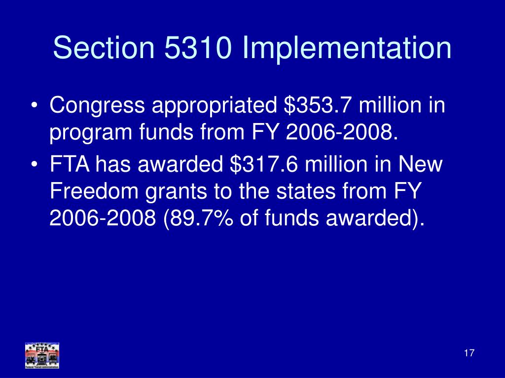 Section 5310 Implementation
