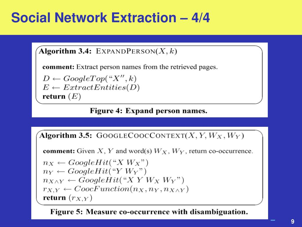 Social Network Extraction – 4/4