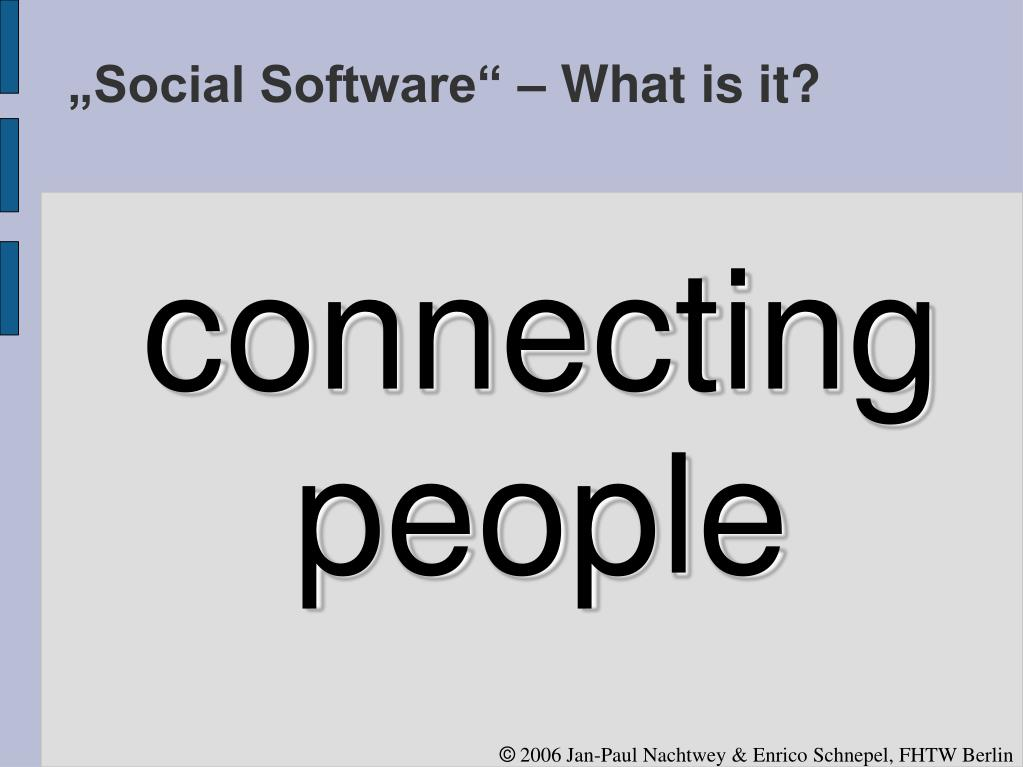 """Social Software"" – What is it?"