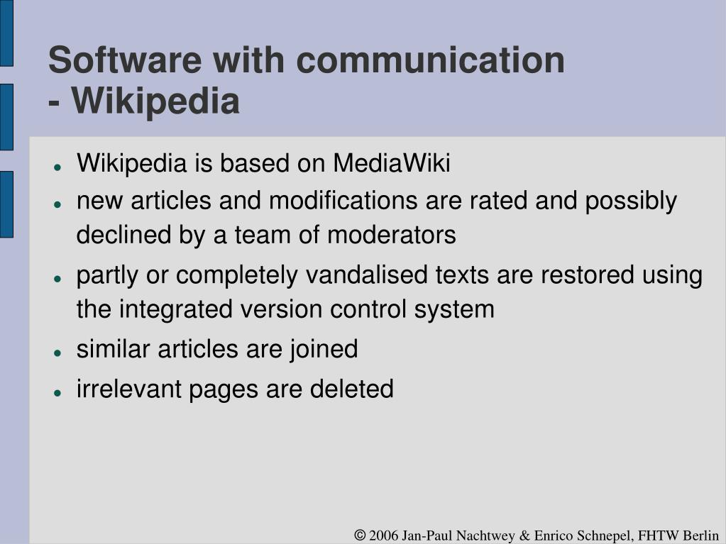 Software with communication