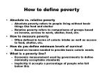 how to define poverty