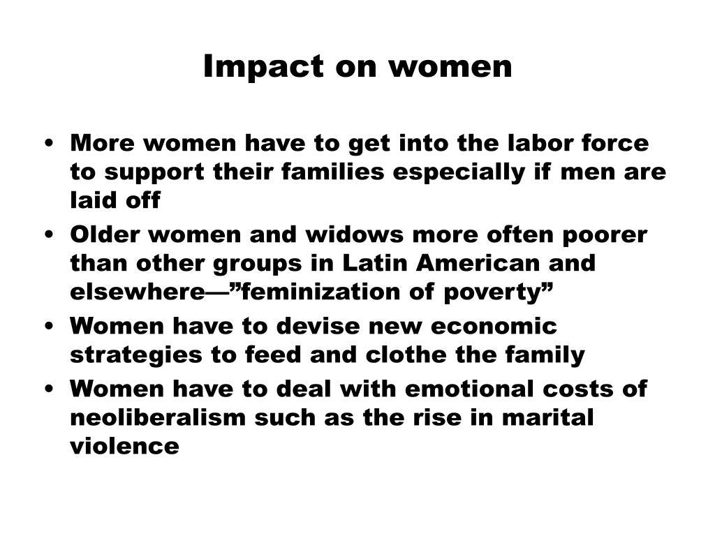 Impact on women