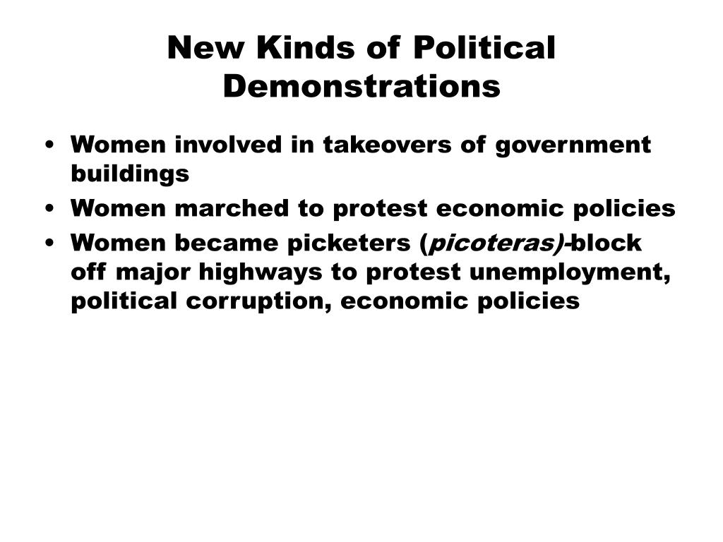 New Kinds of Political Demonstrations
