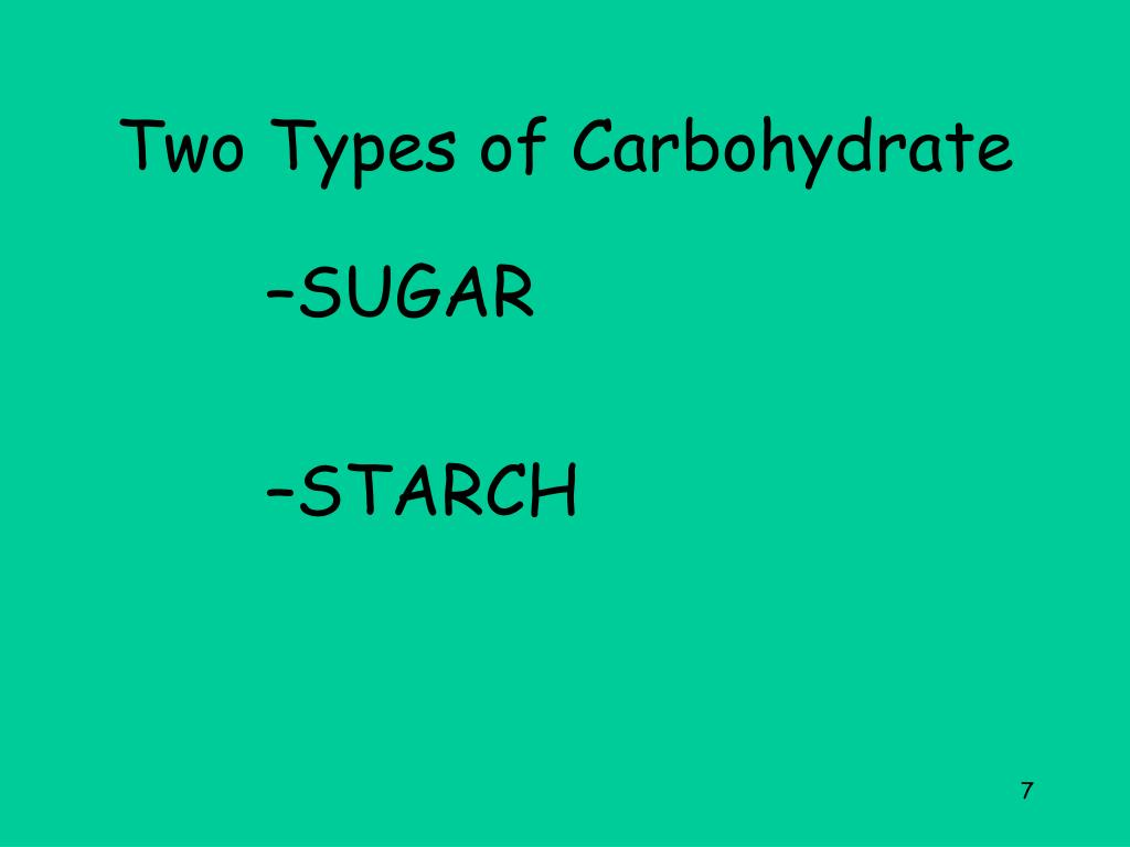 Two Types of Carbohydrate
