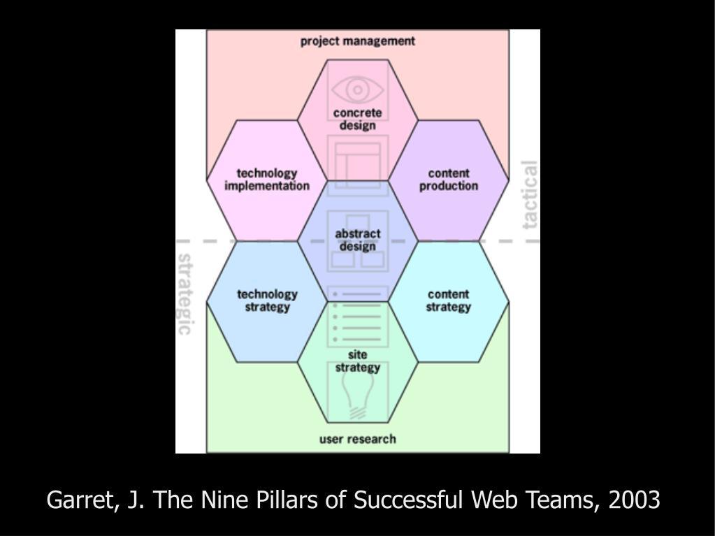 Garret, J. The Nine Pillars of Successful Web Teams, 2003