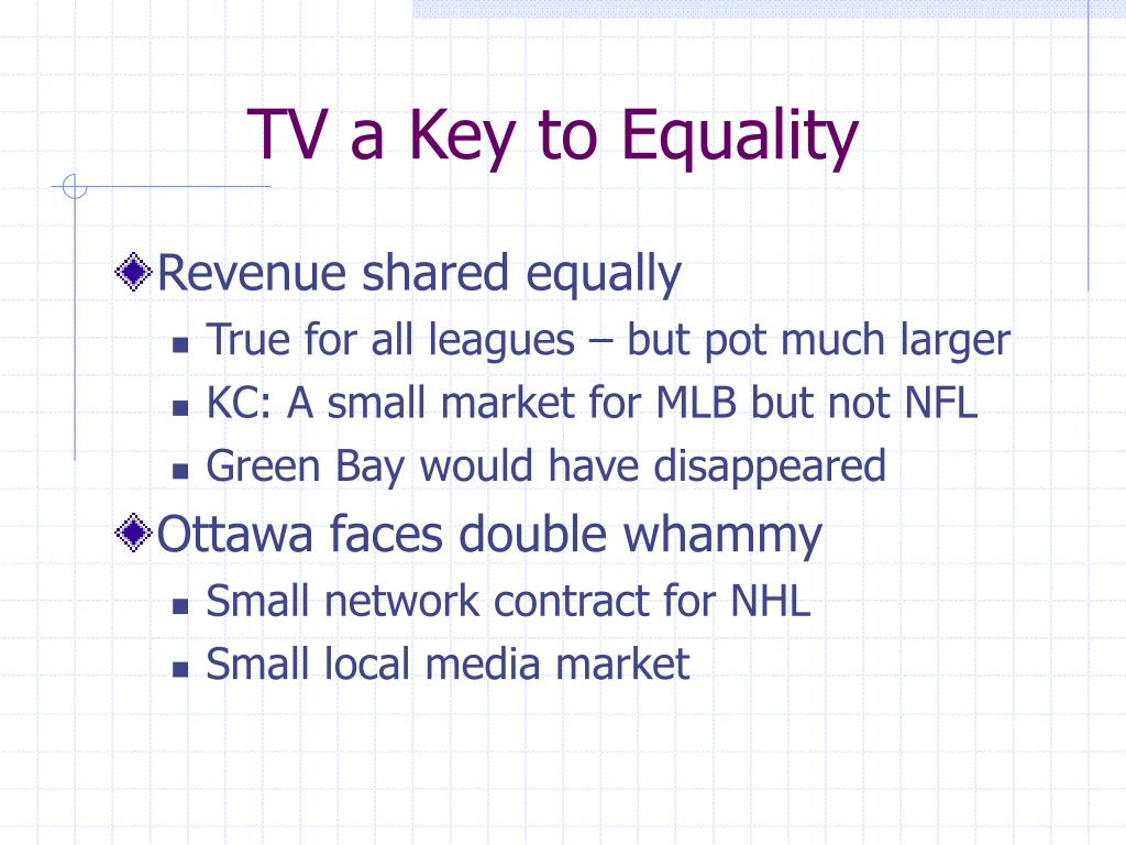 TV a Key to Equality