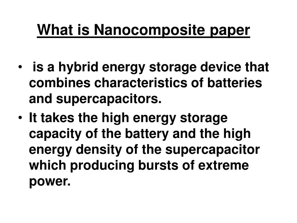 What is Nanocomposite