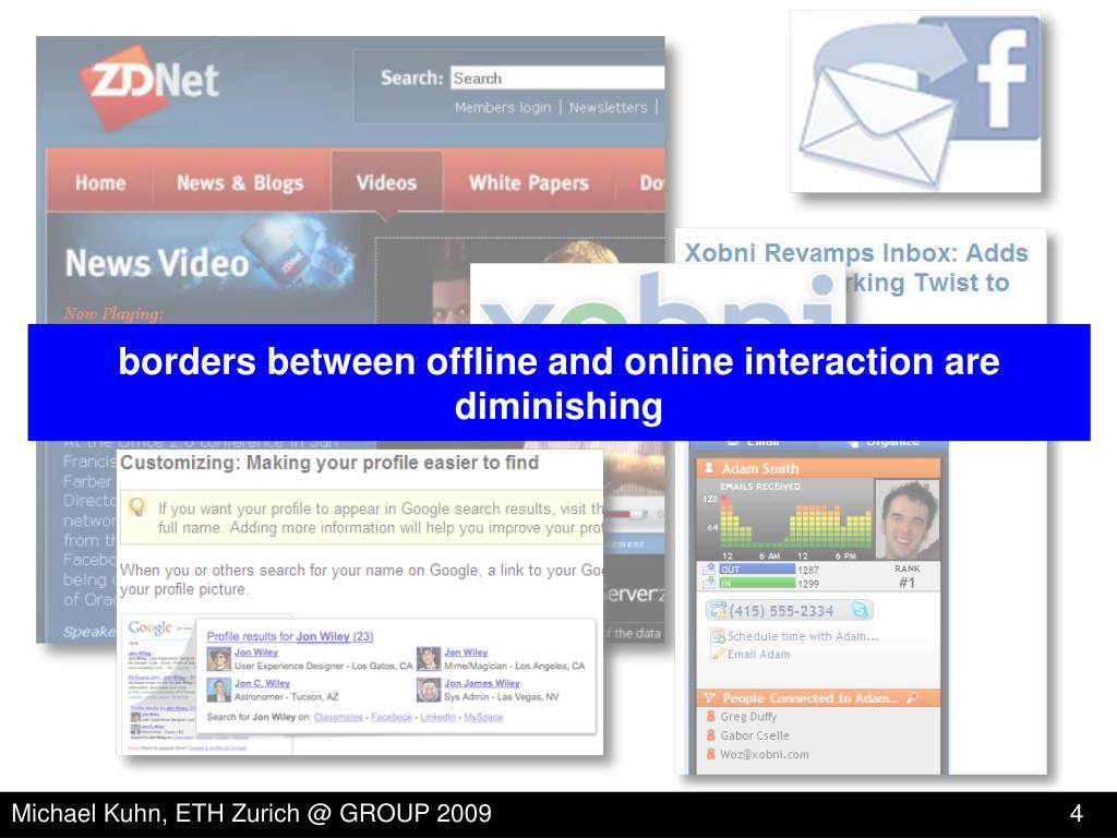 borders between offline and online interaction are diminishing