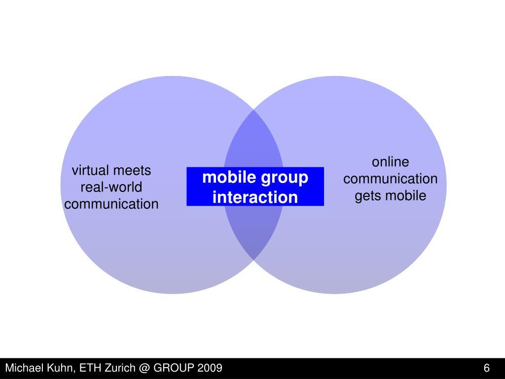 online communication gets mobile