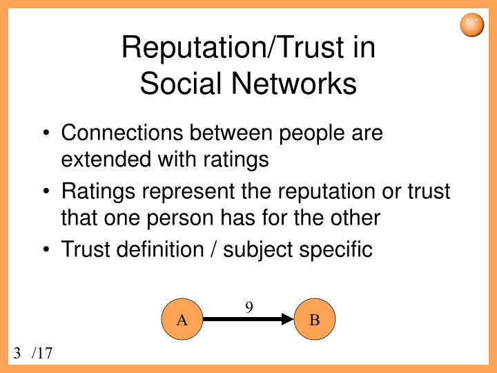 Reputation trust in social networks