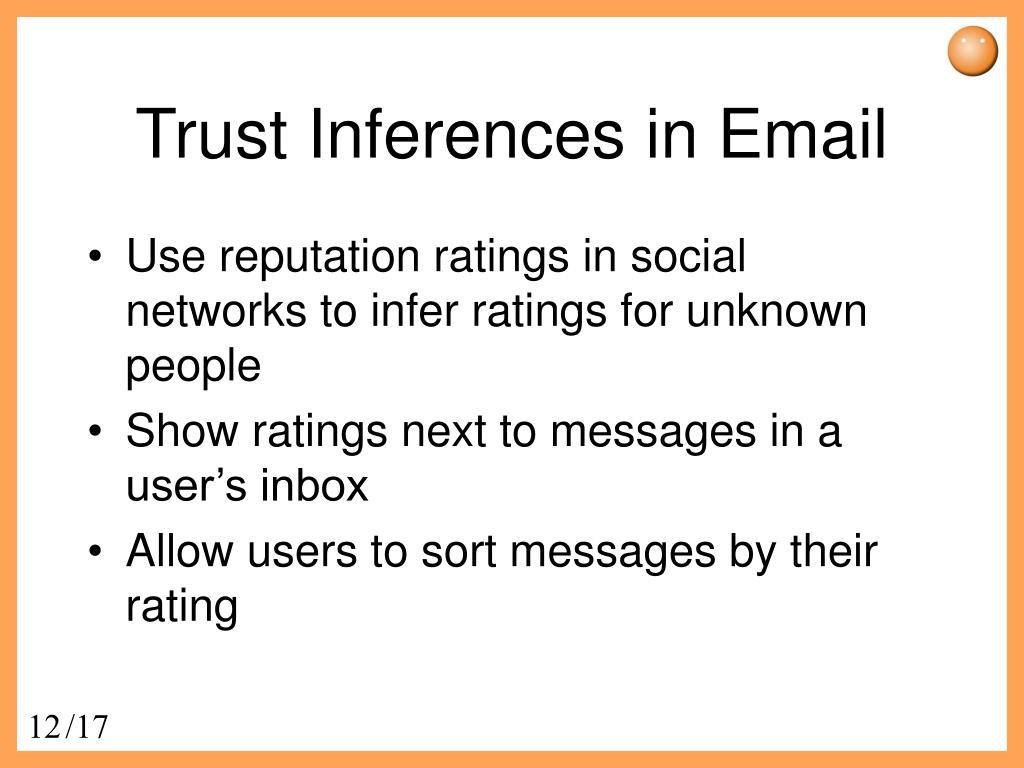 Trust Inferences in Email