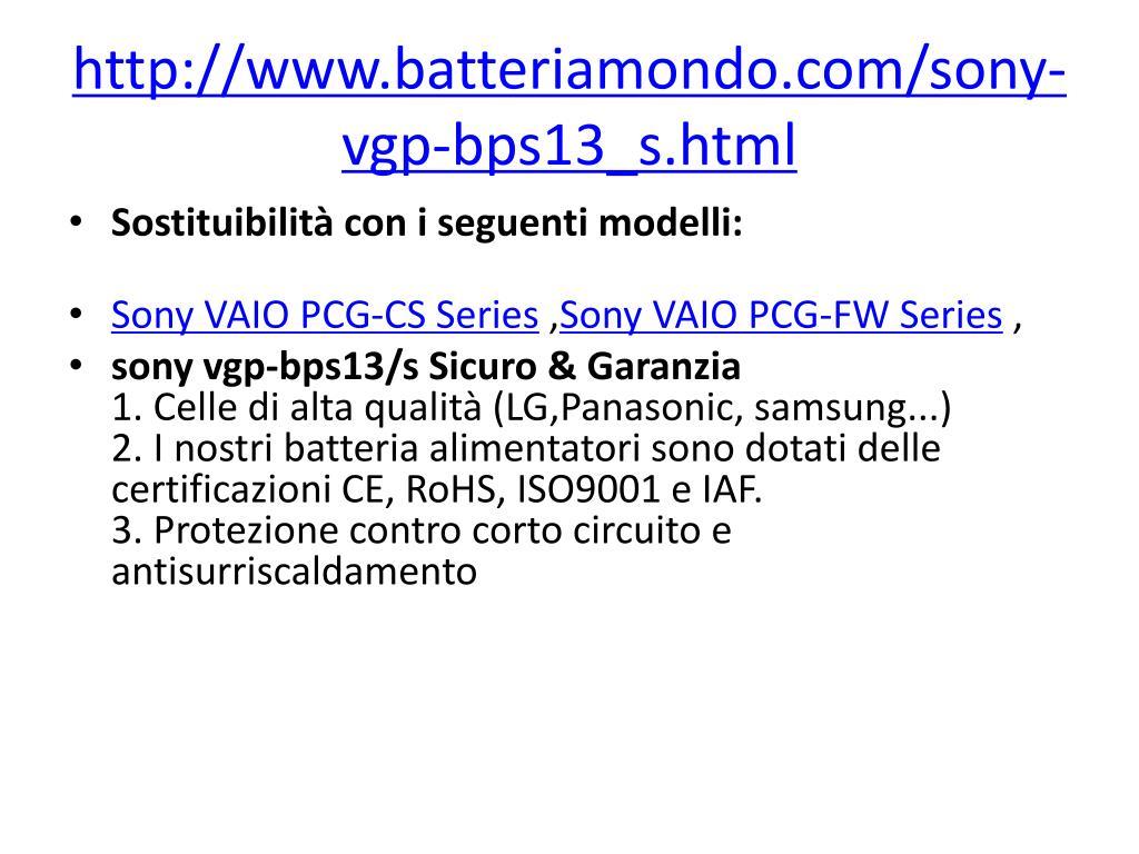 http://www.batteriamondo.com/sony-vgp-bps13_s.html