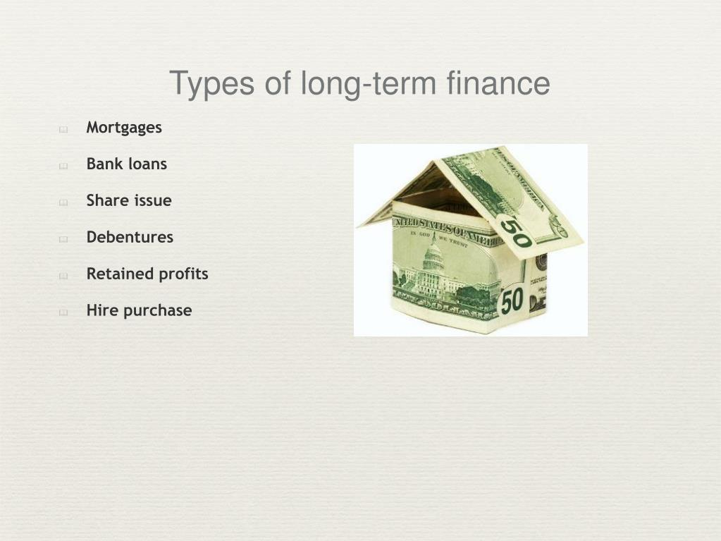 Types of long-term finance